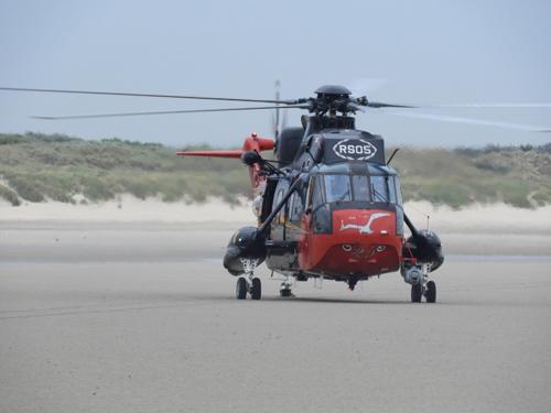 Oef Reddingen aan de Belgische kust