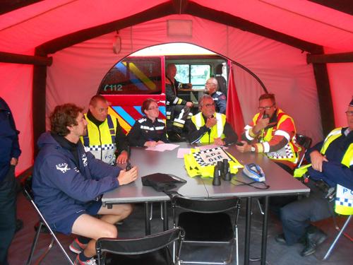 Oefening reddingen aan Belgische kust