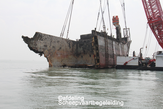 Berging voorschip Flinterstar 28 juni 16