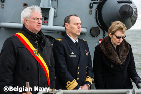 Herdenking Herald®Belgian Navy